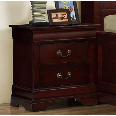 Classic Traditional Cherry Nightstand - Bordeaux