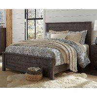 Rustic Charcoal Gray Queen Bed - Wheaton
