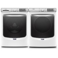 KIT Maytag Smart Laundry Pair with Front Load Washing Machine and Electric Dryer - White