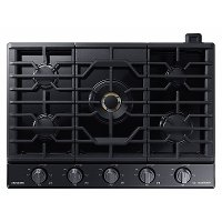 NA36N9755TM Samsung Chef 36 Inch Gas Cooktop - Black Stainless Steel