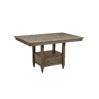 Wood and Tile Counter Height Dining Room Table - Keystone