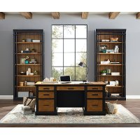 Brown and Black Home Office Desk - Toulouse