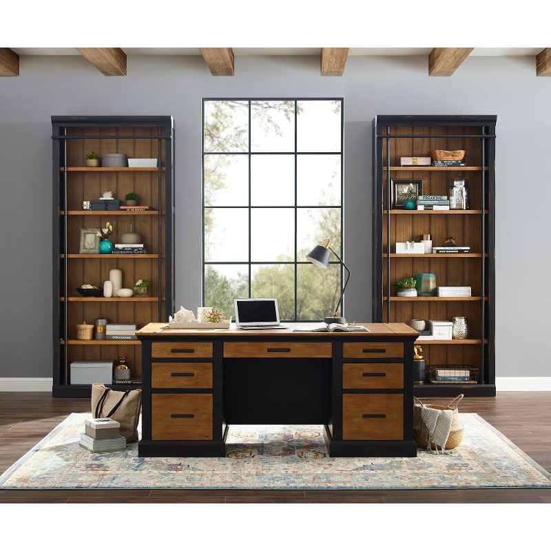 Brown And Black Home Office Desk
