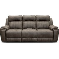 Graphite Gray Standard Power Reclining Sofa - Silver Screen