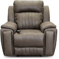 SoCozi Graphite Gray Power Reclining Recliner - Silver Screen