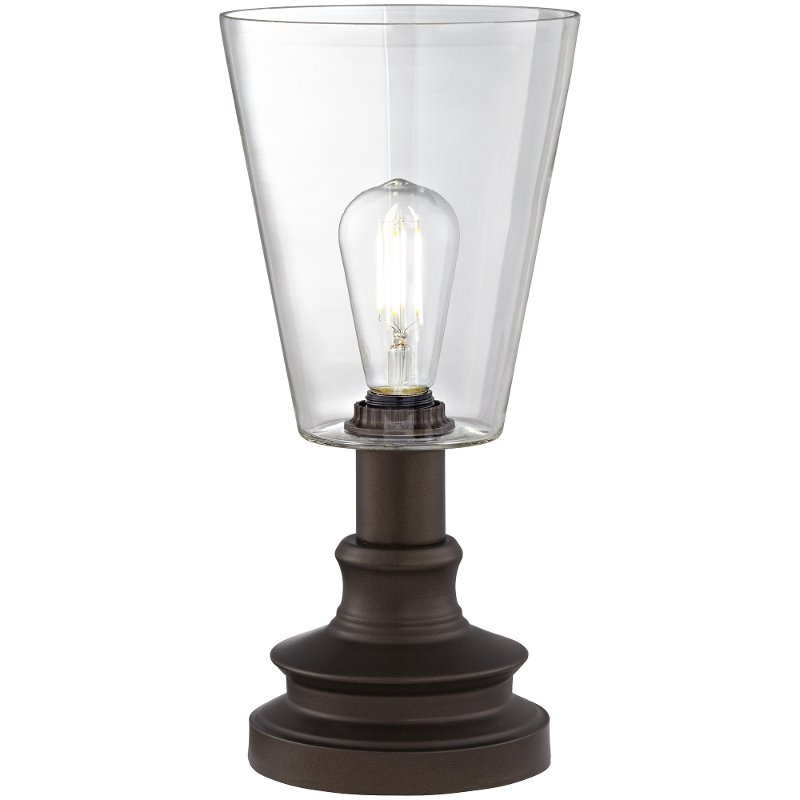 Dark Bronze And Gl Uplight Table Lamp Thomas Rc Willey Furniture