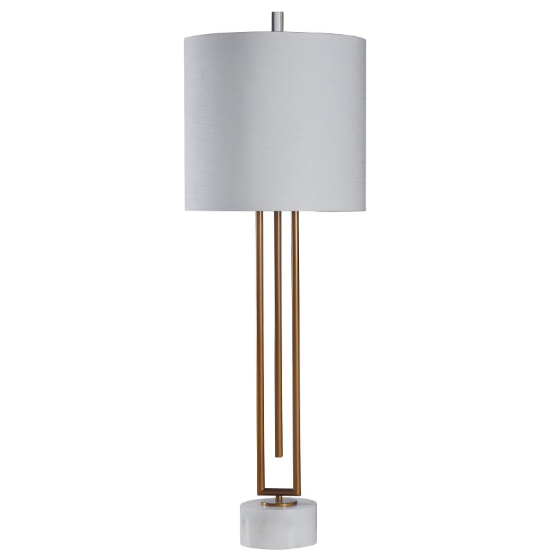 43 Inch Gold and White Marble Contemporary Table Lamp