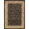 ELG54035X7 5 x 7 Medium Ivory, Gold, and Black Area Rug - Elegance