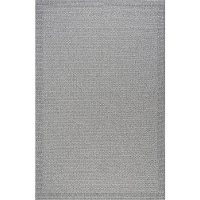 SRN10095X7 5 x 7 Medium Modern Gray Indoor-Outdoor Rug - Serenity