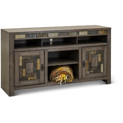 Driftwood Gray 60 Inch TV Stand - Castle Creek