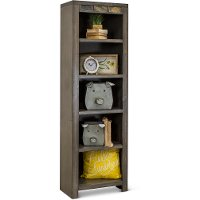 Driftwood Gray Entertainment Center Bookcase - Castle Creek