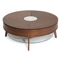 Modern Lift-top Round Cocktail Table - Bellemie