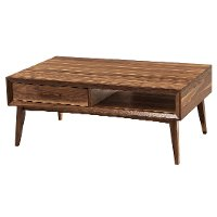 Transitional Light Walnut Coffee Table - Venice