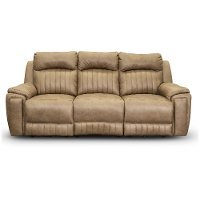 Vintage Taupe Standard Power Reclining Sofa - Silver Screen