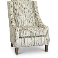 Transitional Cream and Multi Color Club Accent Chair - Janice