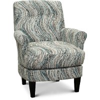 Charcoal, Blue and Cream Barrel Swivel Chair - Cerise