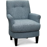 Powder Blue Transitional Barrel Swivel Chair - Cerise