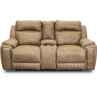 Vintage Taupe Power Reclining Sectional Sofa With Socozi