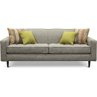 Mid Century Modern Black and White Pepper Sofa - Zane