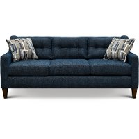 Contemporary Indigo Blue Sofa - Brody