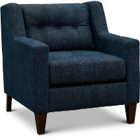 Contemporary Indigo Blue Chair - Brody