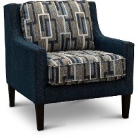 Contemporary Blue and Gray Accent Chair - Brody