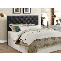 Black Upholstered Full-Queen Headboard - Mackenzie