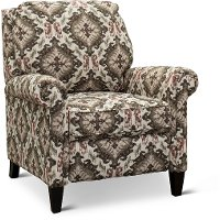 Brown and Cream Push Back Accent Chair - Monroe