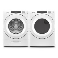 KIT Whirlpool Laundry Pair with Front Load Washer and Gas Dryer with Intuitive Touch Controls - White