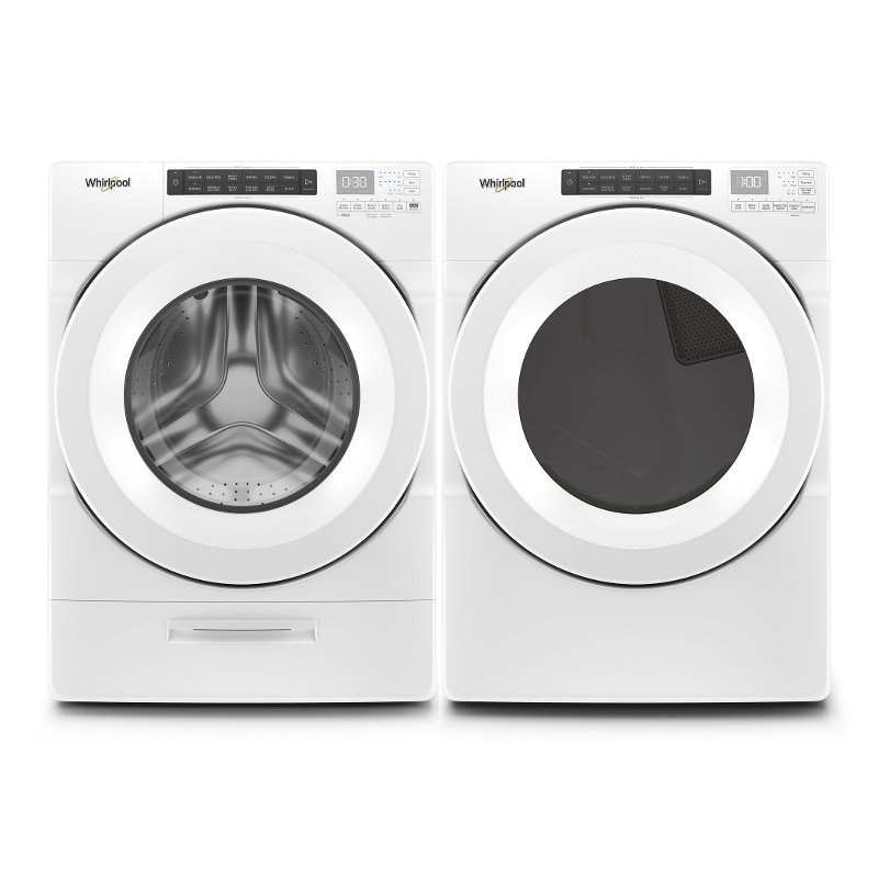 Whirlpool Laundry Pair with Front Load Washer and Gas Dryer with.