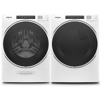 KIT Whirlpool Closet Depth Laundry Pair with Front Load Washer and Gas Dryer - White