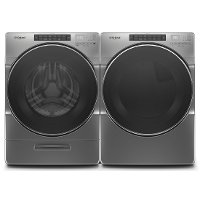 KIT Whirlpool Laundry Kit with Front Load Washer and Gas Dryer - Chrome