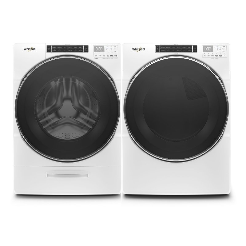 Whirlpool Front Load Washer and Electric Dryer Laundry Pair - White