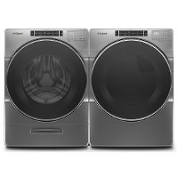 KIT Whirlpool Laundry Pair with Front Load Washer and Gas Dryer - Chrome