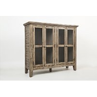 Rustic Watch Hill Gray Accent Cabinet - Rustic Shores