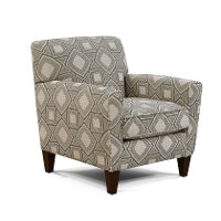 Contemporary Linen and Gray Accent Chair - Angie