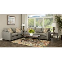 Contemporary Stone Gray 7 Piece Living Room Set - Gavin