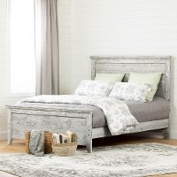 12283 Rustic Seaside Pine Queen Bed - Lionel
