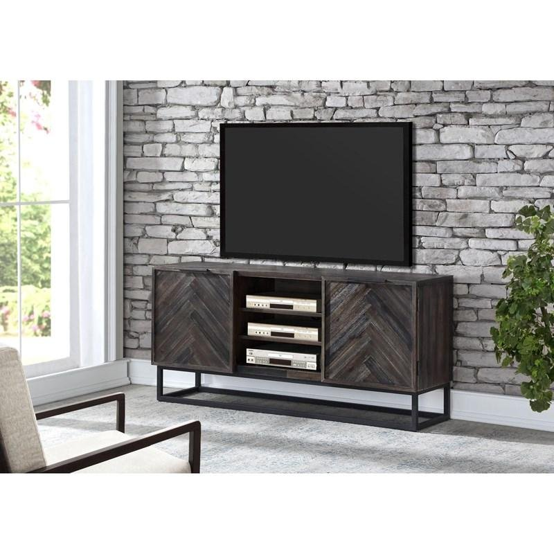 Reclaimed Wood And Metal 63 Inch Tv Stand Aspen Court