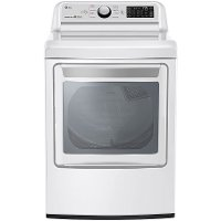 DLE7300WE LG Rear Control Electric Dryer with Sensor Dry - 7.3 cu.ft.  White