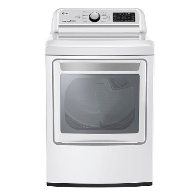DLG7301WE LG Rear Control Gas Dryer with Sensor Dry - 7.3 cu.ft.  White