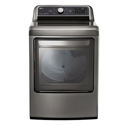 DLE7300VE LG Rear Control Electric Dryer with Sensor Dry - 7.3 cu.ft.  Graphite Steel