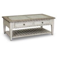 Weathered White Oak Coffee Table - Heartland