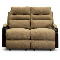 Tumbleweed Brown Power Gliding Reclining Loveseat - Jansen