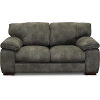 Casual Contemporary Gray Loveseat - Paige