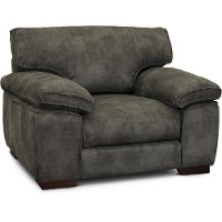 Casual Contemporary Gray Chair - Paige