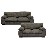 Casual Contemporary Gray 2 Piece Living Room Set - Paige
