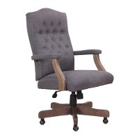 Slate Gray Tufted Office Chair - Executive Tufted Series