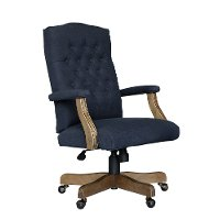 Navy Tufted Office Chair - Executive Tufted Series