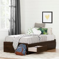 12251 Brown Platform Storage Twin Bed - Step One